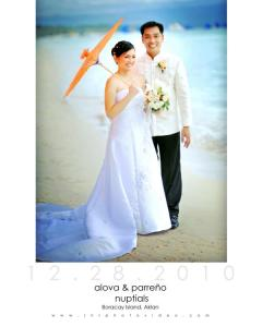 beach wedding, Raymund and Valerie